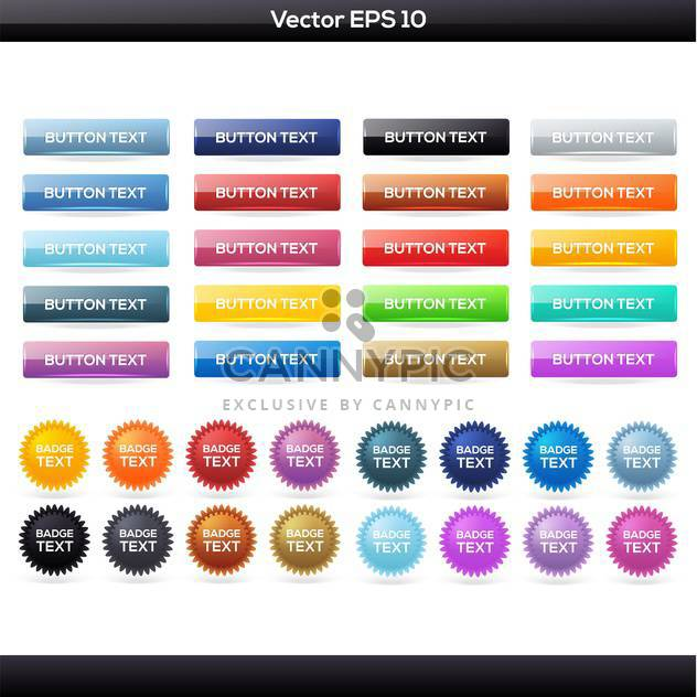 Vector set of colorful buttons icons - Free vector #129917