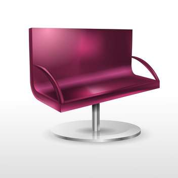 Vector illustration of violet couch isolated - Free vector #129987