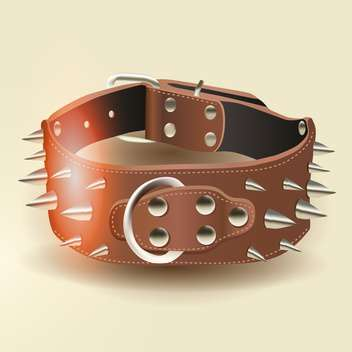 Vector bangle with spikes on beige background - Free vector #129997