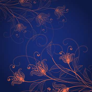 Elegant vintage floral background - Free vector #130007