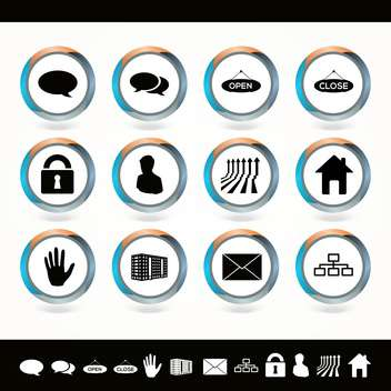 Vector set of web icons on white background - Free vector #130117