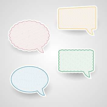 Vector set of colorful retro speech bubbles - vector gratuit #130147