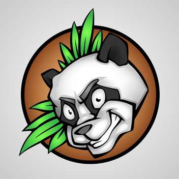 Vector illustration of angry panda head - vector gratuit #130167