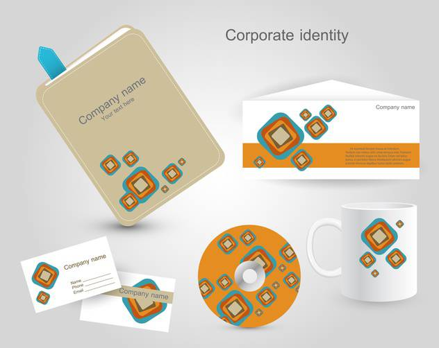 Set of corporate identity templates - vector gratuit #130217