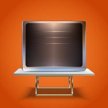 vector blank board screen icon - vector gratuit #130257