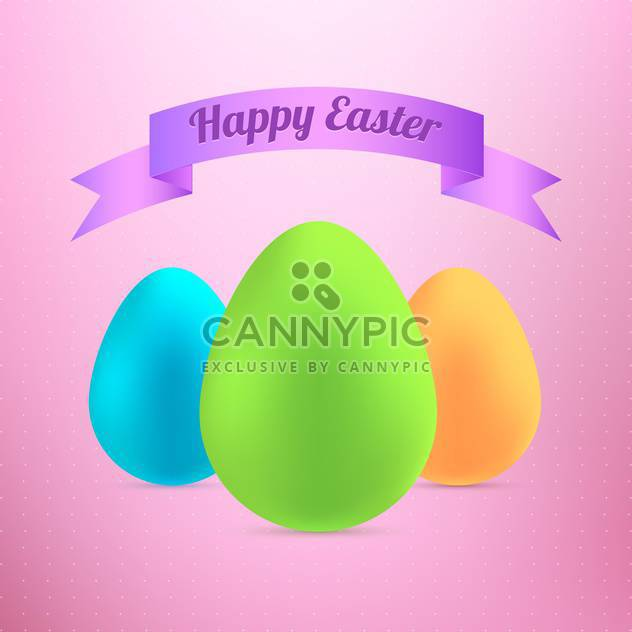 happy Easter-Eier-card - Kostenloses vector #130297