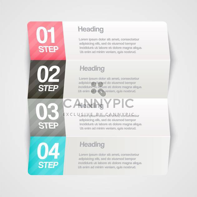 Vector paper progress steps for tutorial - Free vector #130377