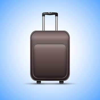 Black travel suitcase, on blue background - vector gratuit #130417