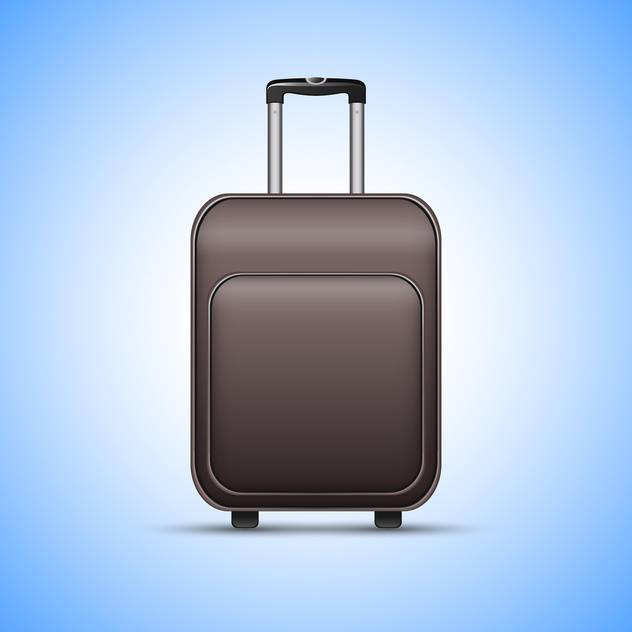 Black travel suitcase, on blue background - Free vector #130417