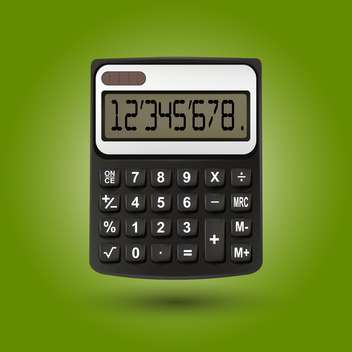 Vector calculator on green background - vector gratuit #130437