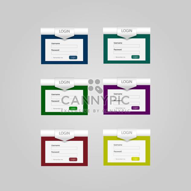 Set with vector login forms - Free vector #130447