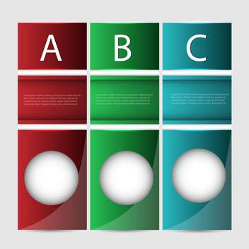 Abc vector progress banners - Free vector #130467