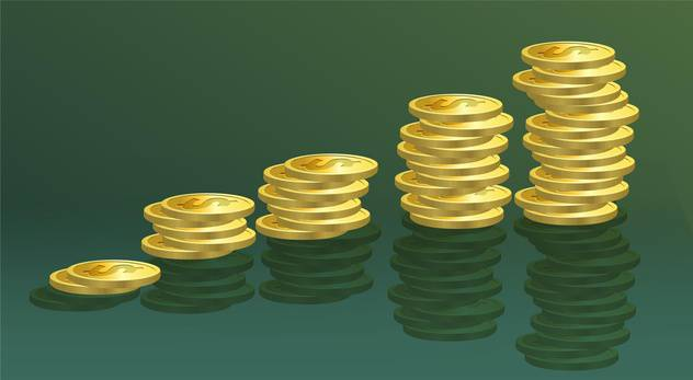 golden coins vector illustration - Free vector #130497