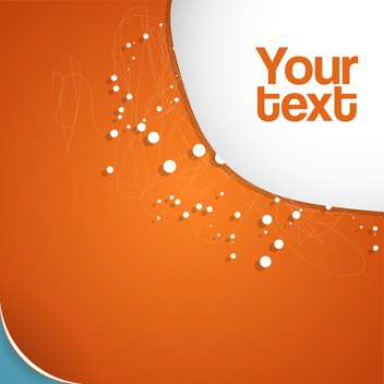 Vector abstract orange background. - vector gratuit #130527
