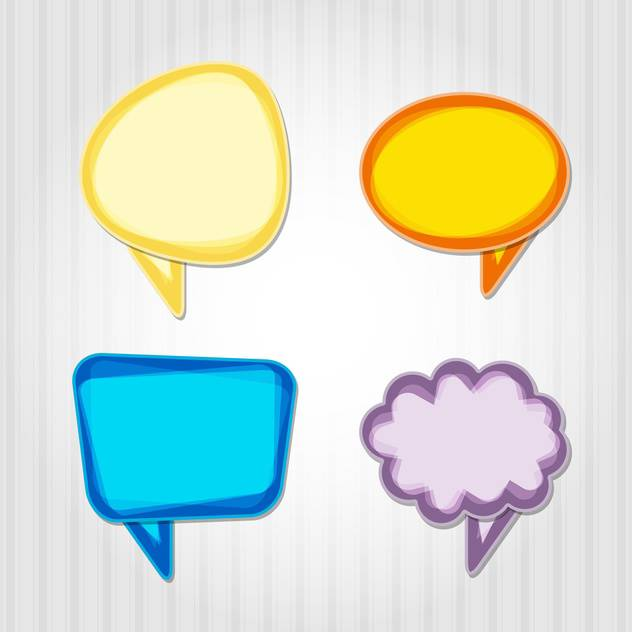 Vector set of colorful speech bubbles - Free vector #130547