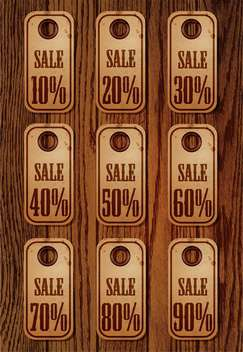 Vector set of sale retro price tags - vector gratuit #130597