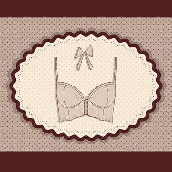 vector illustration of female colorful lingerie card - Free vector #130707