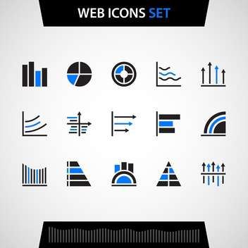 Finance and business vector icon set - vector gratuit #130727
