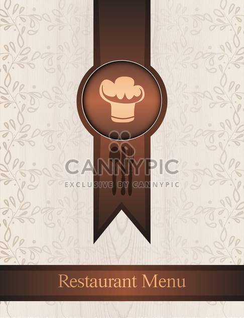 Vector menu design on floral background - Free vector #130747