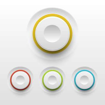 Vector buttons on white background - Free vector #130847