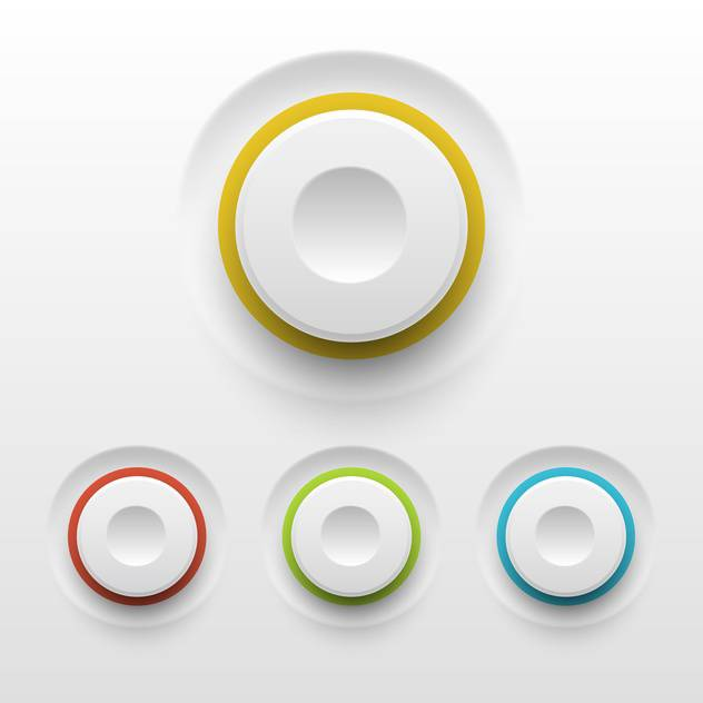 Vector buttons on white background - vector gratuit #130847
