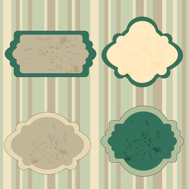 Set of retro green tags vector illustration - vector gratuit #130877