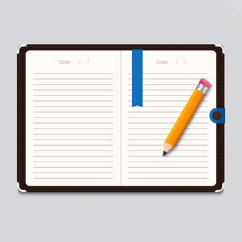 Design template notebook illustration - vector gratuit #130957