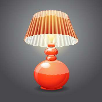 illustration of isolated table lamp - бесплатный vector #131067