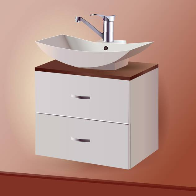 Washing sink vector illustration - Free vector #131107