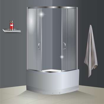 Vector bathroom with shower illustration - бесплатный vector #131137