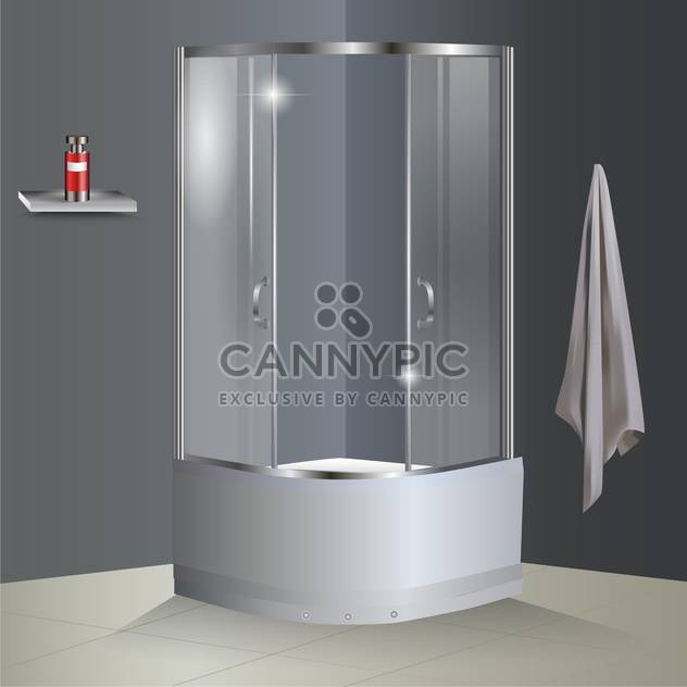 Vector bathroom with shower illustration - Kostenloses vector #131137