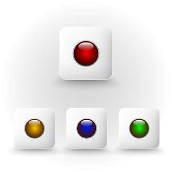 Vector color web buttons set - vector gratuit #131167