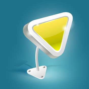 Yellow vector arrow sign on blue background - vector gratuit #131177