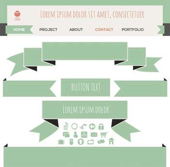Set of vector ribbon banners - vector gratuit #131187