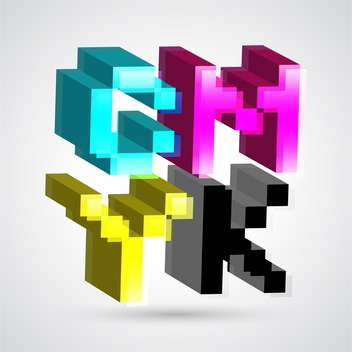 3d CMYK colors for design vector illustration - бесплатный vector #131227