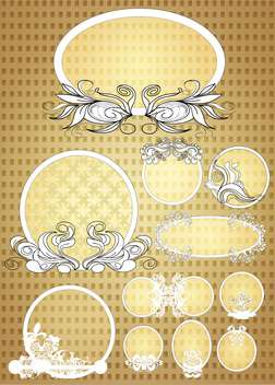 Decorative oval frames vector set - vector gratuit #131237