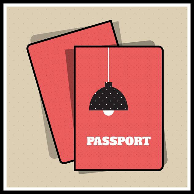 Lamp passport cover vector illustration - Kostenloses vector #131257