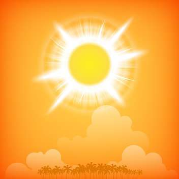 Island at sunset background vector illustration - Free vector #131267