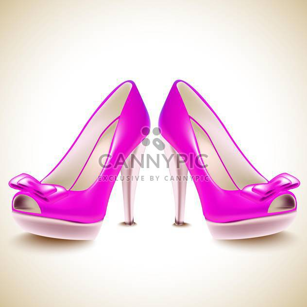 High heel shoes vector illustration - Free vector #131277