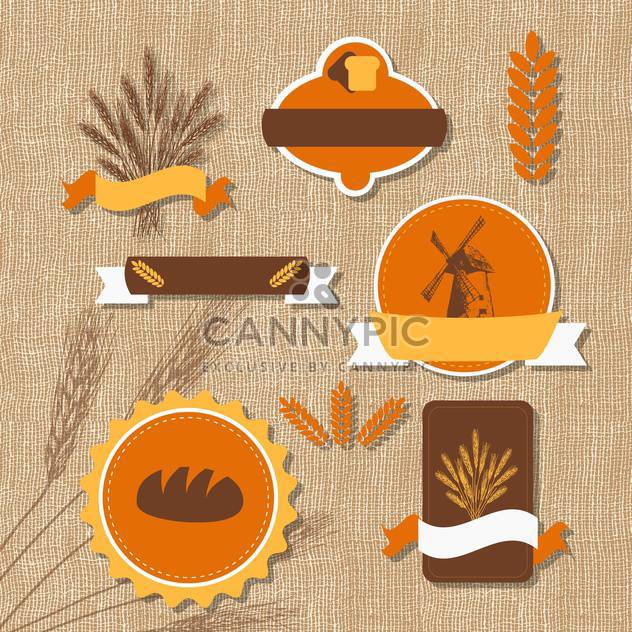 Vintage retro bakery logo vector illustration - Free vector #131287