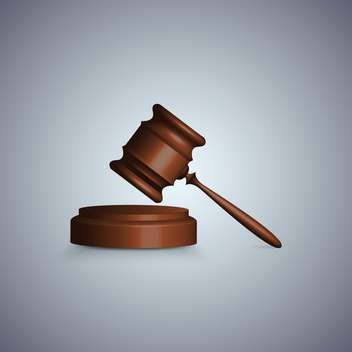 Judge gavel in focuson grey background - Free vector #131297