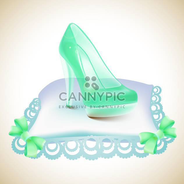 Crystal Cinderella's slipper on pillow - Free vector #131307