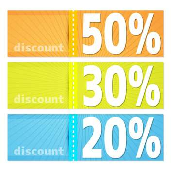 Discount labels for shopping concept - Free vector #131377