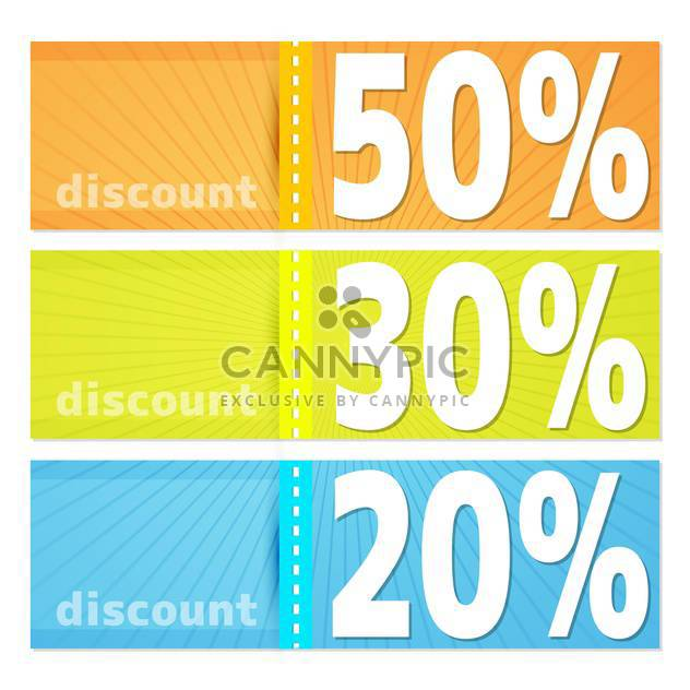 Discount labels for shopping concept - Kostenloses vector #131377