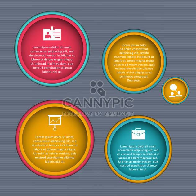 Glossy banners set vector illustration - Free vector #131457