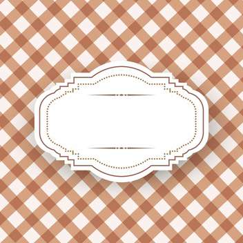 Vintage frame template with space for text - vector gratuit #131507