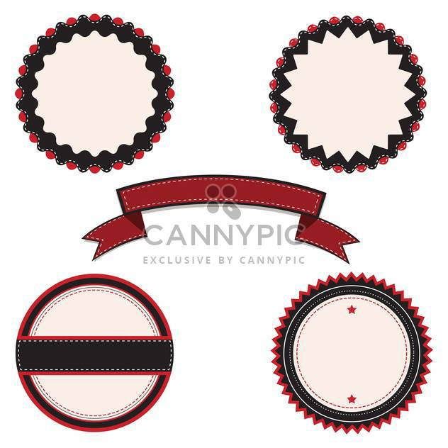 Vector banners illustration in vintage style - Free vector #131557