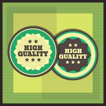Collection of premium quality labels with retro vintage styled design - vector gratuit #131567