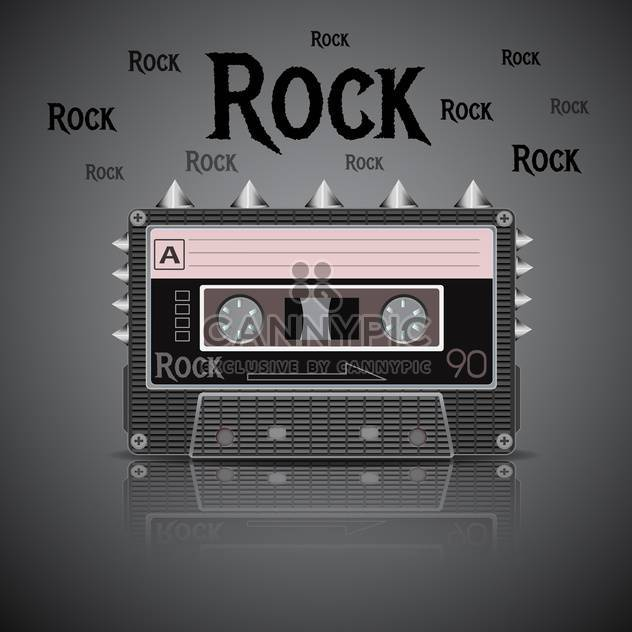 Rock vintage cassette on dark background - Kostenloses vector #131587
