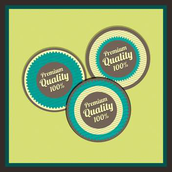 Collection of premium quality labels with retro vintage styled design - vector #131607 gratis